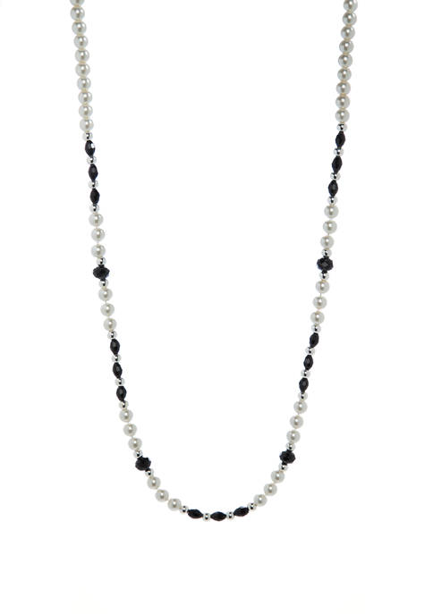 Kim Rogers® 30 Inch Silver, Jet and Pearl