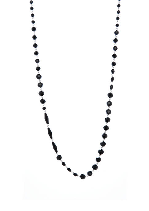 28 Inch Jet Long Necklace
