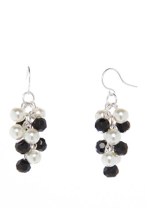 Kim Rogers® Jet Pearl Cascade Drop Earrings