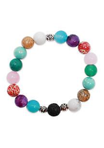 L&J ACCESSORIES Multicolor Glass Essential Oil Diffuser Bracelet