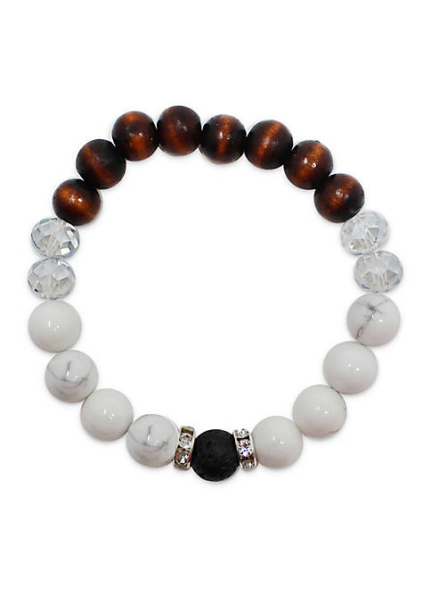 L&J ACCESSORIES Glass Essential Oil Diffuser Bracelet