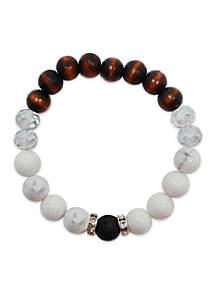 L&J ACCESSORIES Glass Essential Oil Diffuser Bracelet