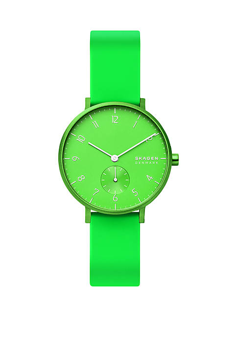Skagen Aaren Kulor Neon Silicone 36 mm Watch