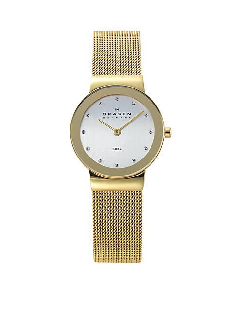 Skagen Womens Gold-Tone Mesh Watch
