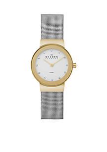 Skagen Women's Two Tone Mesh Watch