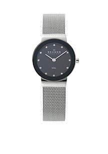Glitzy Steel Mesh Watch