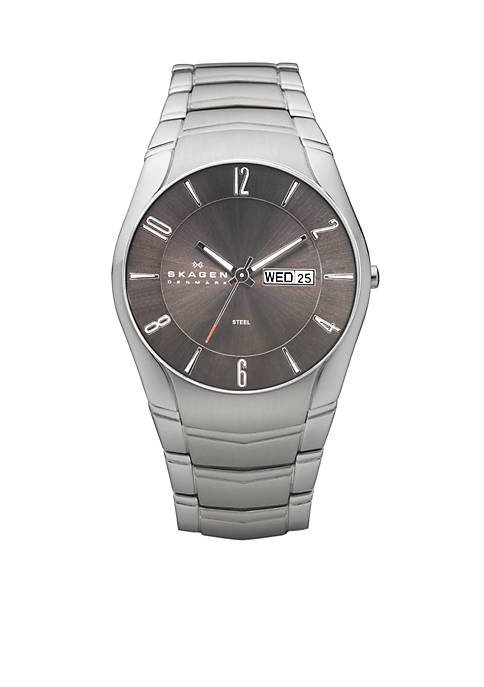 Skagen Mens Link Day and Date Watch