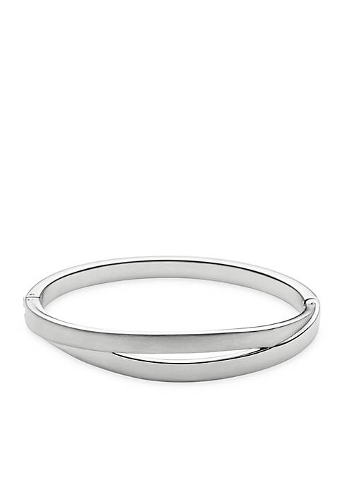 Silver-Tone Elin Bangle Bracelet