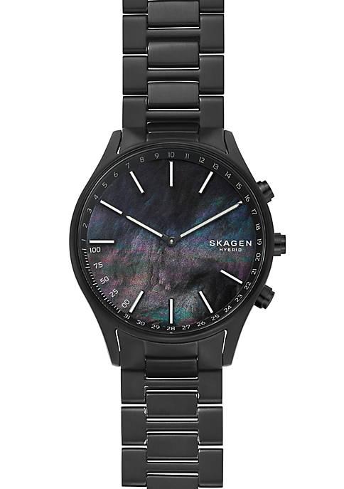 Holst Black Titanium-Link Hybrid Smartwatch