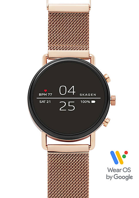 Falster 2 Rose Tone Magnetic Steel Mesh Smartwatch