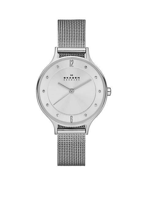 Womens Silver Mesh Watch
