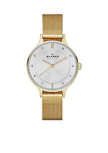 Women's Gold-Plated Mesh Watch