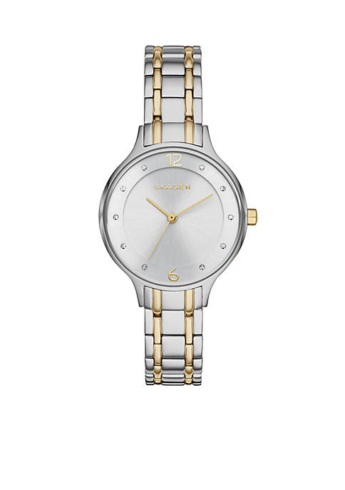 Anita Two-Tone Link Watch