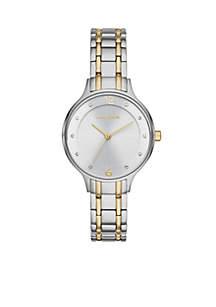Anita Two-Tone Link Watch