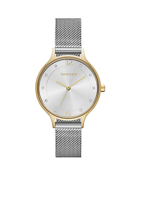Skagen Anita Two-Tone Mesh Watch