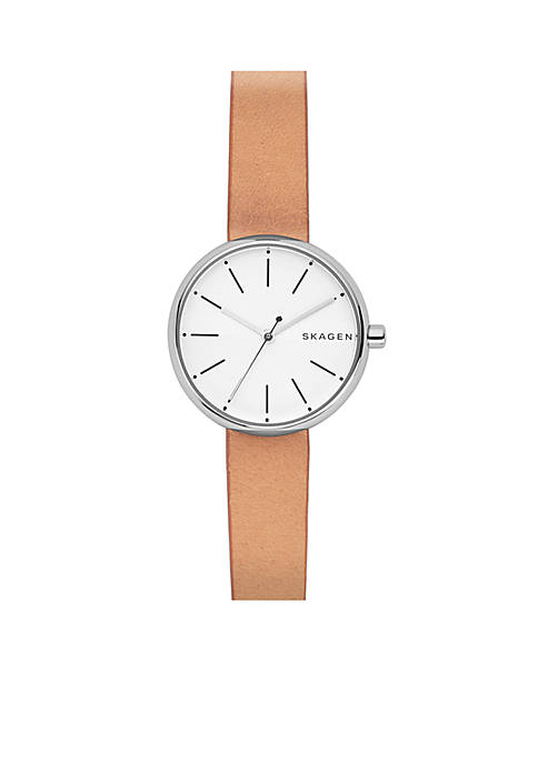 Womens Signature Leather Watch
