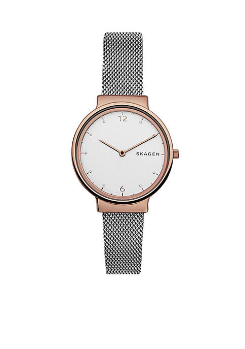 Skagen Ancher Steel-Mesh Watch