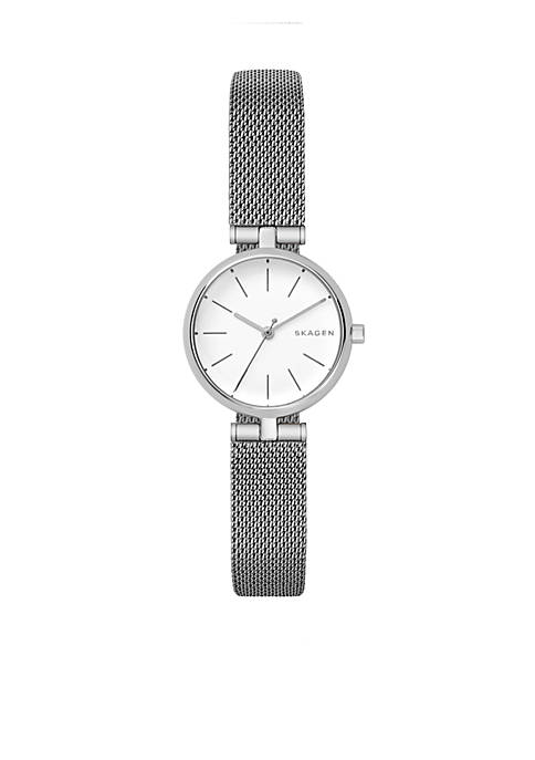 Womens Stainless Steel Signature Steel-Mesh T-Bar Watch