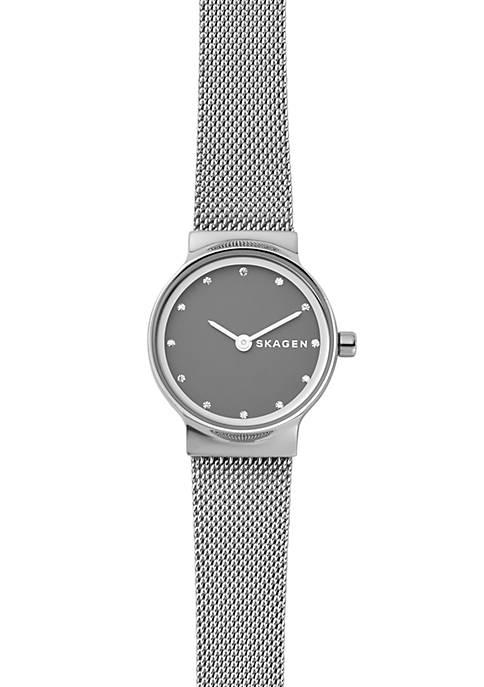 Skagen Silver-Tone Freja Steel-Mesh Watch