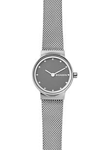 Silver-Tone Freja Steel-Mesh Watch