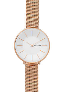 Women's Rose Gold-Tone Karolina Steel-Mesh Watch