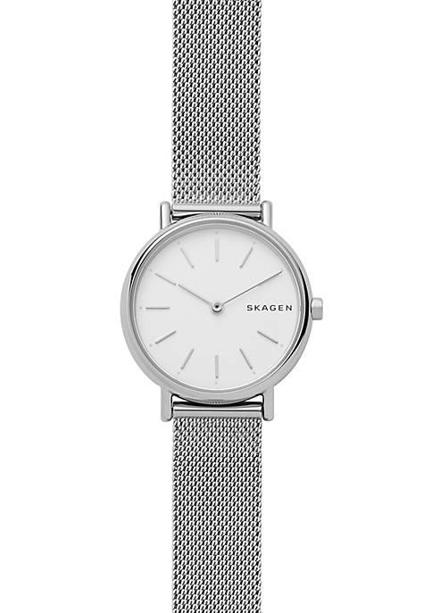 Womens Stainless Steel Signatur Slim Steel-Mesh Watch