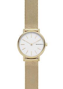Women's Gold-Tone Stainless Steel Signatur Slim Mesh Watch