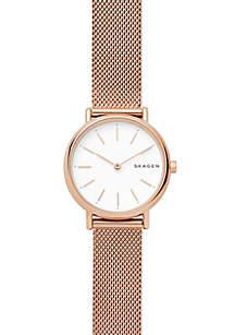 Women's Rose Gold-Tone Signatur Steel-Mesh Watch