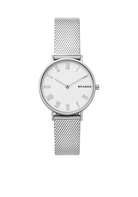 Skagen Silver-Tone Hald Mesh Watch