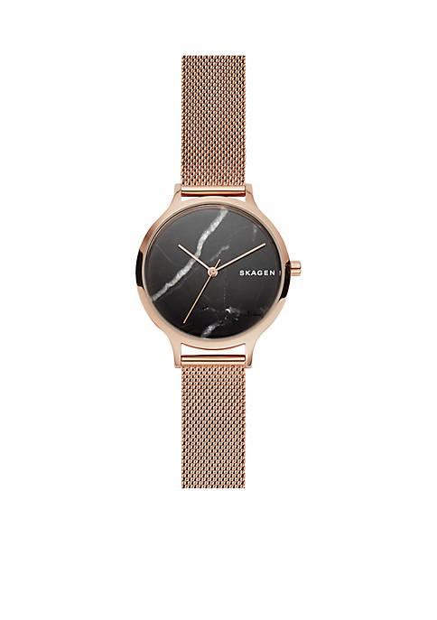 Womens Rose Gold-Tone Anita Stone Mesh Strap Watch