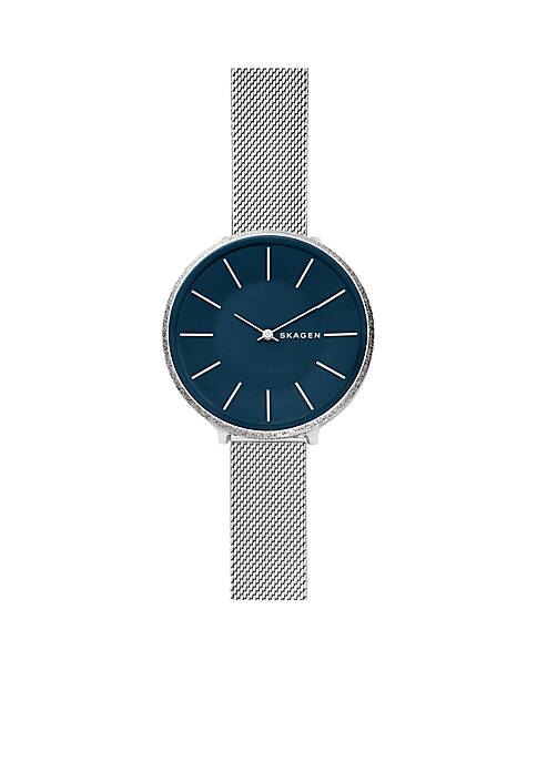 Skagen Womens Stainless Steel Karolina Silk-Mesh Watch