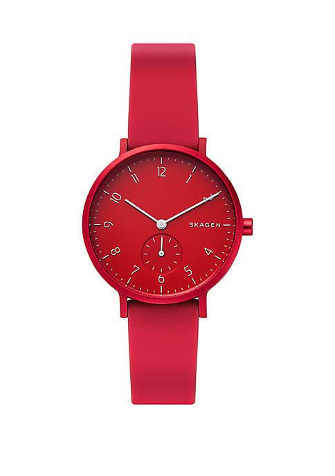 Aaren Kulor Red Silicone 36 mm Watch