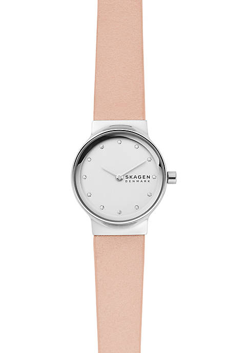 Stainless Steel Freja Blush Leather Watch