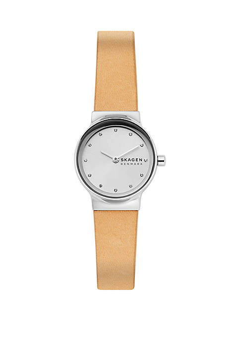 Freja Yellow Leather Watch