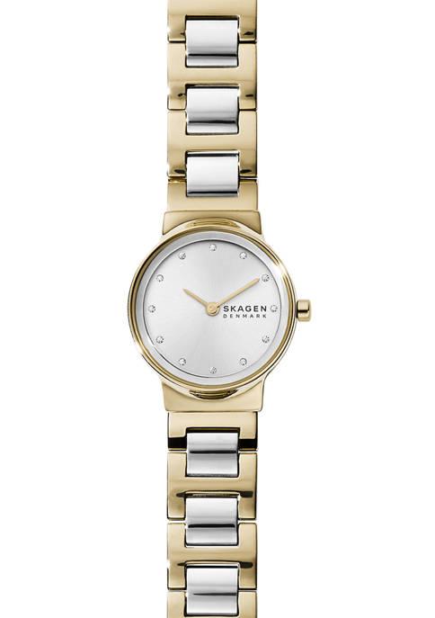 Skagen Womens Freja 2 Tone Steel Link Watch