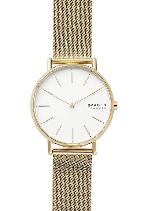Womens Signatur Gold Tone Steel Mesh Watch
