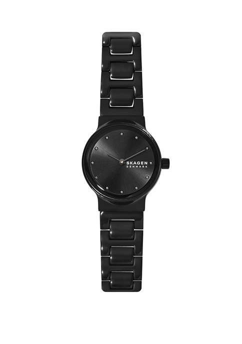 Freja 2 Hand Black Stainless Steel Watch