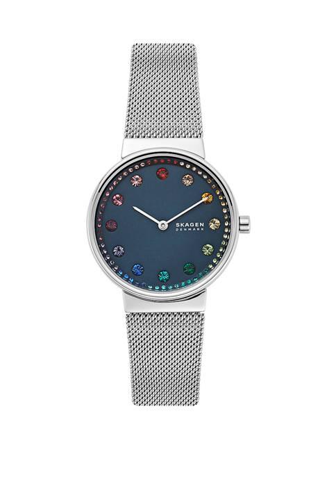 Annelie 2 Hand Silver Tone Steel Mesh Watch
