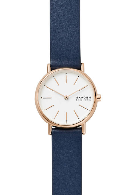 Womens Signatur Blue Leather Watch