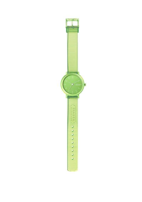 Aaren Green Silicone Watch