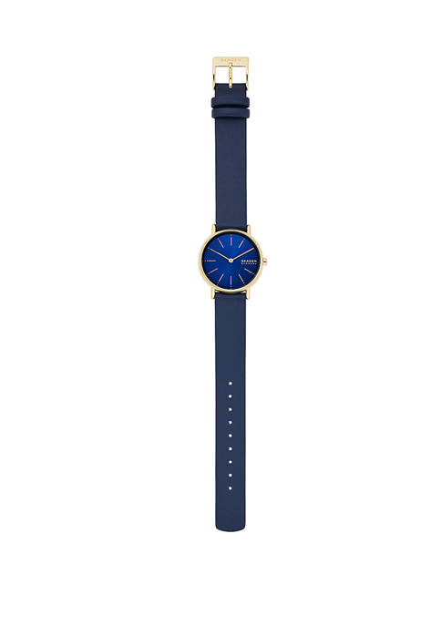Signature Blue Leather Watch
