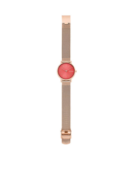 Signature Rose Gold Mesh Watch