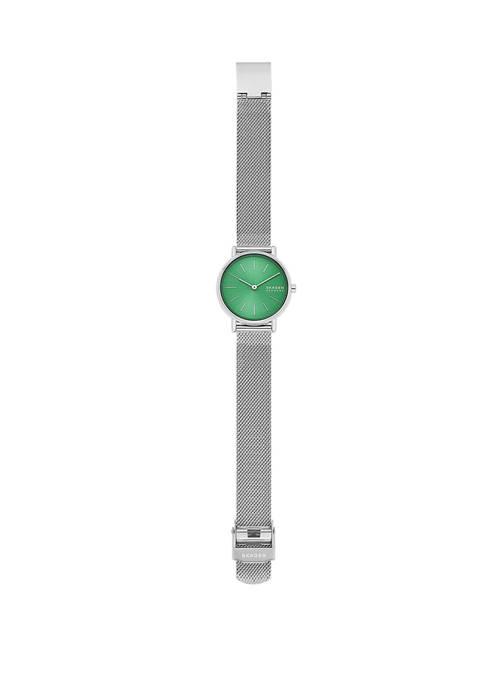 Signature Silver Mesh Watch