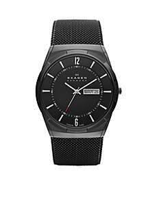 Men's Black Mesh Titanium Watch