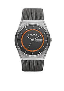 Men's Gray Mesh Titanium Watch