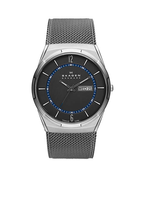 Mens Titanium Mesh Watch