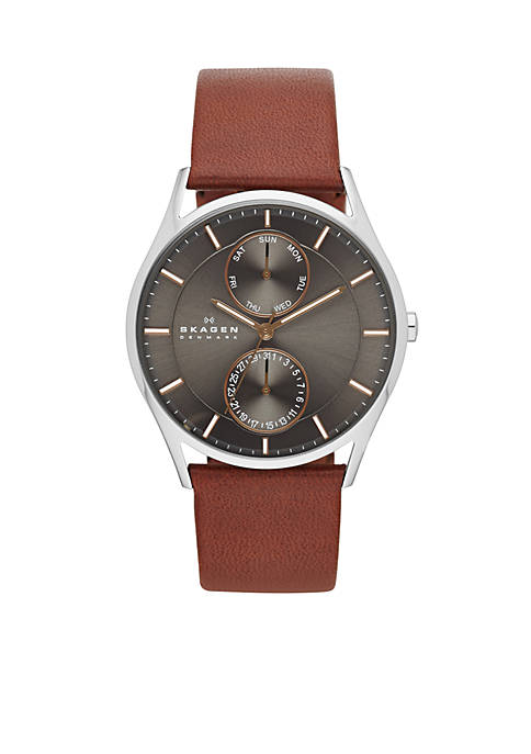 Mens Brown Leather Watch