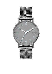 Men's Gunmetal-Tone Signature Titanium and Steel-Mesh Watch