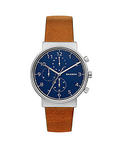 Skagen Ancher Leather Chronograph