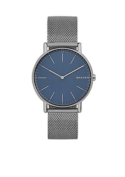 Mens Titanium Signature Slim Steel-Mesh Watch